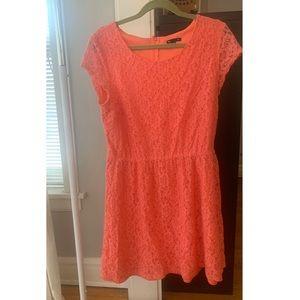 GAP Pink Lace Mini-Dress